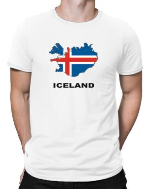 Iceland - Country Map Color Men T-Shirt