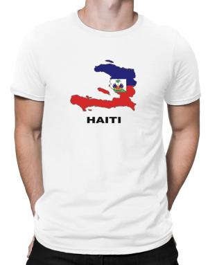 Haiti - Country Map Color Men T-Shirt