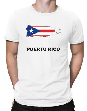 Puerto Rico - Country Map Color Men T-Shirt