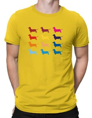 Polo de Colorful Dachshund