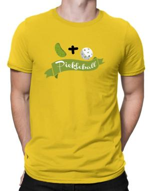 Pickle plus ball equals pickleball Men T-Shirt