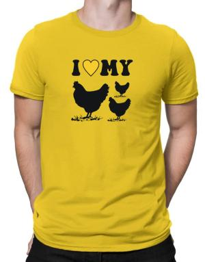 I love my chickens Men T-Shirt