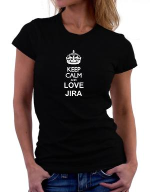 Polo de Dama de Keep calm and love Jira