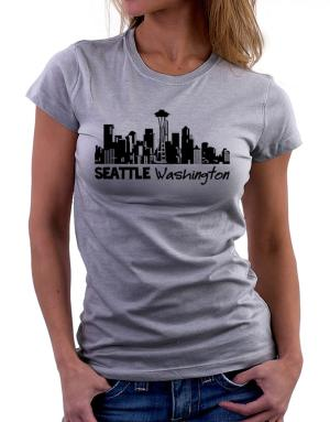 Seattle, Washington skyline Women T-Shirt