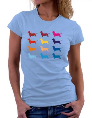 Polo de Dama de Colorful Dachshund