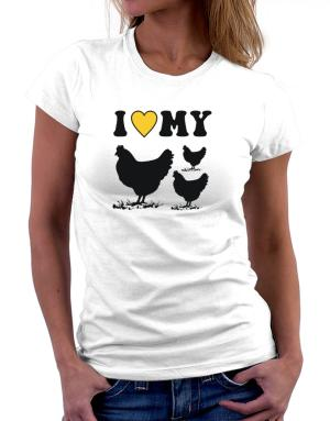 Polo de Dama de I love my chickens