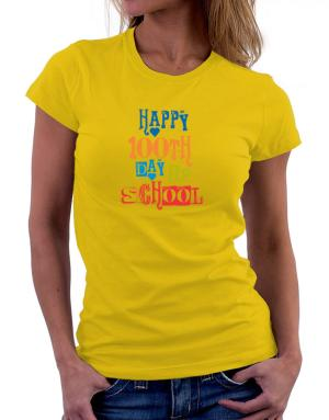 Polo de Dama de Happy 100th day of school cool style