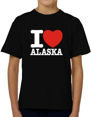 I Love Alaska T-Shirt Boys Youth