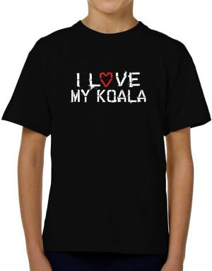 I Love My Koala T-Shirt Boys Youth