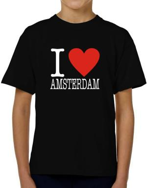 I Love Amsterdam Classic T-Shirt Boys Youth