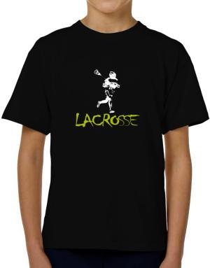 Lacrosse Silhouette T-Shirt Boys Youth