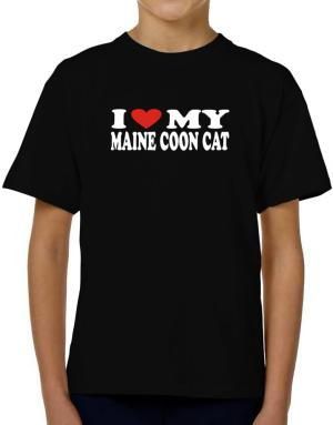 I Love My Maine Coon T-Shirt Boys Youth