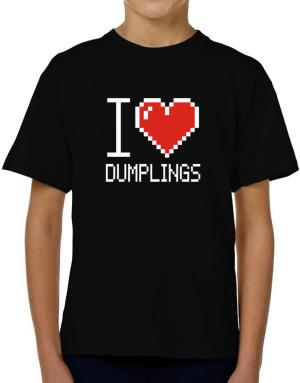 I love Dumplings pixelated T-Shirt Boys Youth