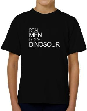 Real men love Dinosour T-Shirt Boys Youth