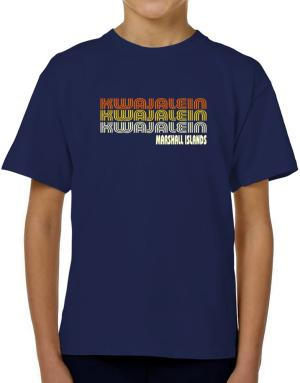 Retro Color Kwajalein T-Shirt Boys Youth