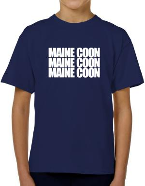 Maine Coon three words T-Shirt Boys Youth