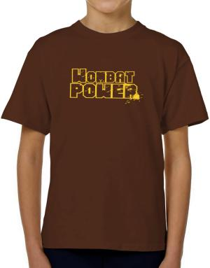 Wombat Power T-Shirt Boys Youth