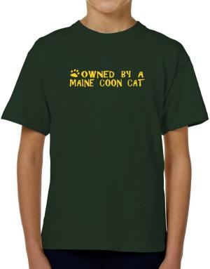 Owned By A Maine Coon T-Shirt Boys Youth