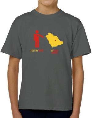I Left My Heart In Saudi Arabia - Map T-Shirt Boys Youth