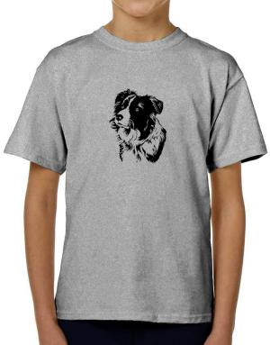 Border Collie Face Special Graphic T-Shirt Boys Youth