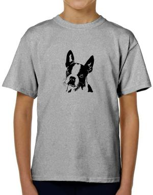 Boston Terrier Face Special Graphic T-Shirt Boys Youth