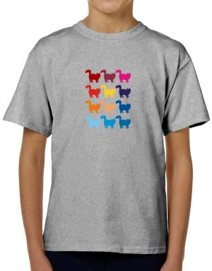 Colorful Norwegian Forest Cat T-Shirt Boys Youth