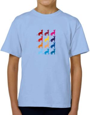 Colorful Sphynx T-Shirt Boys Youth