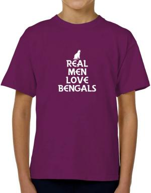 Real men love Bengals T-Shirt Boys Youth