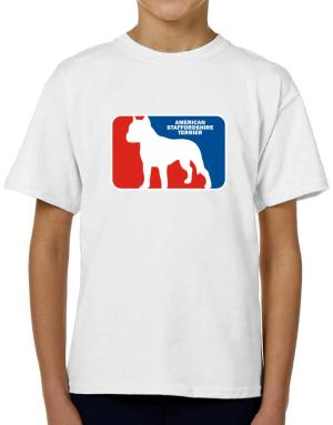 American Staffordshire Terrier Sports Logo T-Shirt Boys Youth