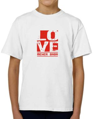 Love Meher Baba T-Shirt Boys Youth