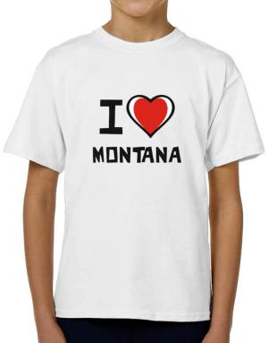 I Love Montana T-Shirt Boys Youth