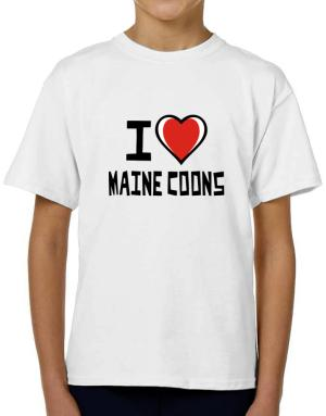 I Love Maine Coons T-Shirt Boys Youth