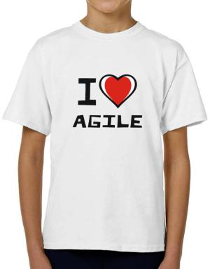 I Love Agile T-Shirt Boys Youth
