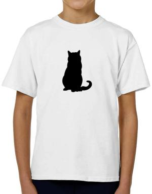 Chartreux silhouette T-Shirt Boys Youth