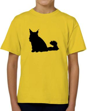 Maine Coon silhouette T-Shirt Boys Youth