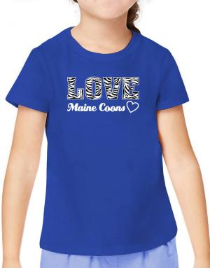 Love Maine Coons T-Shirt Girls Youth