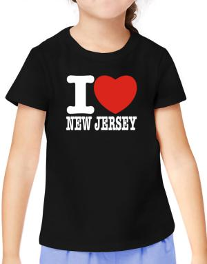 I Love New Jersey T-Shirt Girls Youth