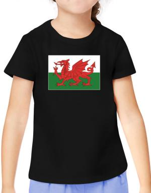 Wales Flag T-Shirt Girls Youth