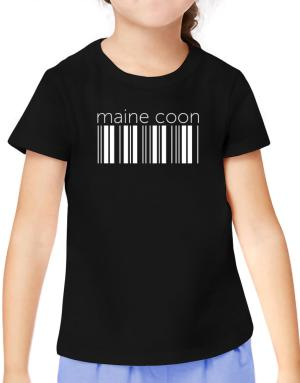 Maine Coon barcode T-Shirt Girls Youth