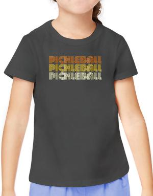 Pickleball Retro Color T-Shirt Girls Youth