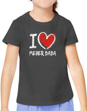 I love Meher Baba chalk style T-Shirt Girls Youth