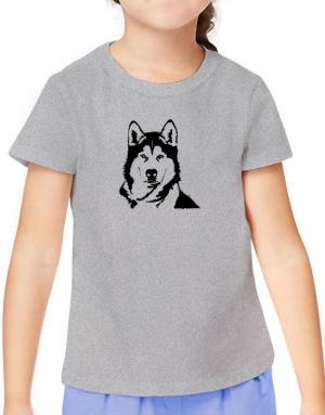 Alaskan Malamute Face Special Graphic T-Shirt Girls Youth