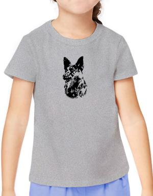 German Shepherd Face Special Graphic T-Shirt Girls Youth