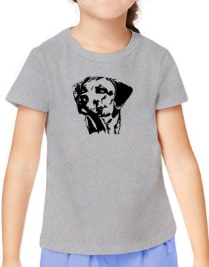 Rhodesian Ridgeback Face Special Graphic T-Shirt Girls Youth