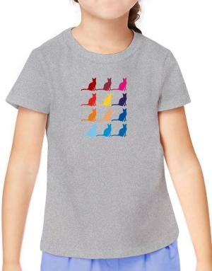 Colorful Siamese T-Shirt Girls Youth