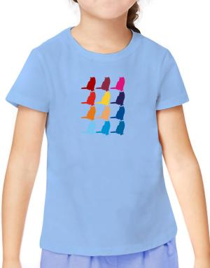 Colorful British Shorthair T-Shirt Girls Youth