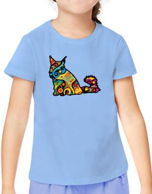 Psychedelic Maine Coon T-Shirt Girls Youth