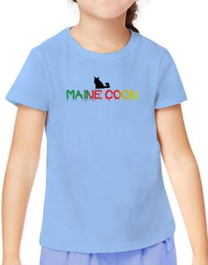Dripping Maine Coon T-Shirt Girls Youth