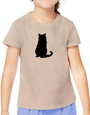 Chartreux silhouette T-Shirt Girls Youth