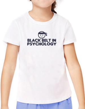Black Belt In Psychology T-Shirt Girls Youth